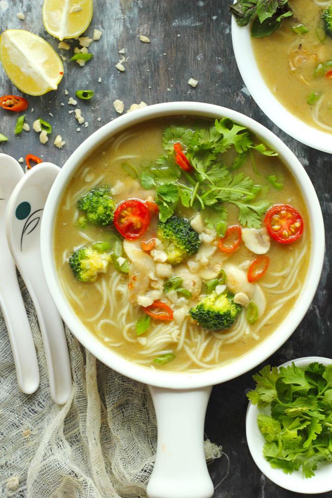 Vegetarian Thai Green Curry Recipes  Vegan Thai Green Curry Soup Recipe Fun FOOD and Frolic