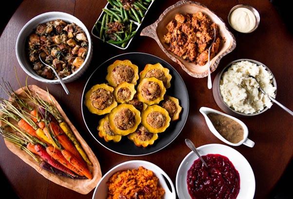 Vegetarian Thanksgiving Protein  Thanksgiving Dinner Menu Ideas Easyday