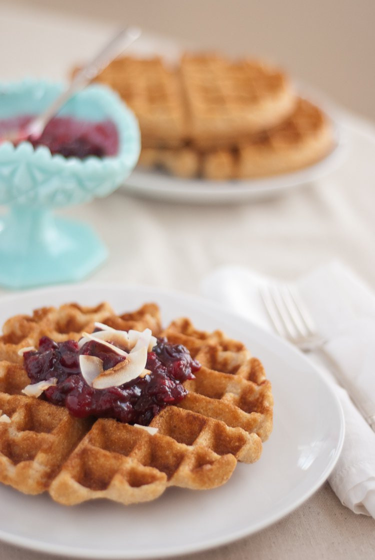 Vegetarian Waffles Recipe  substitute coconut oil for ve able oil in waffles