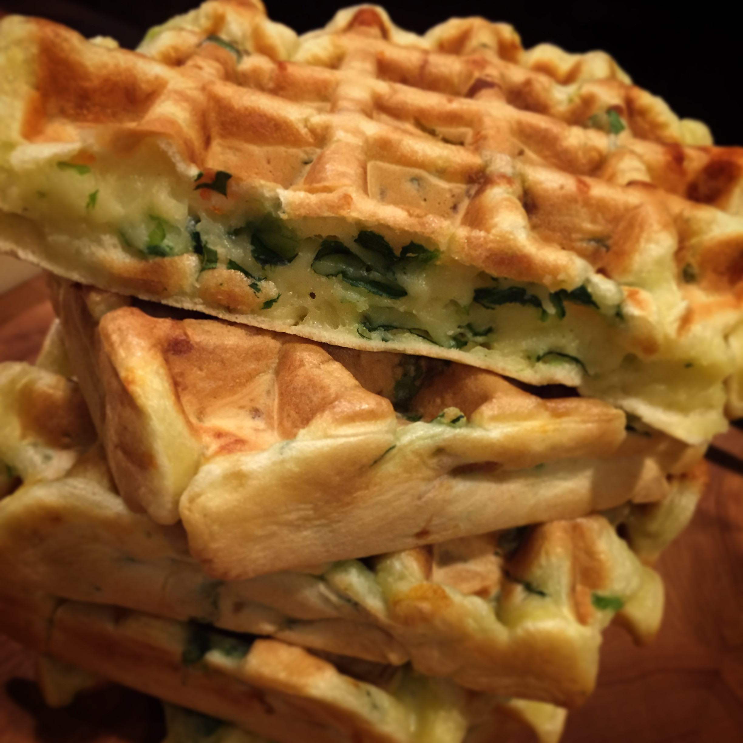 Vegetarian Waffles Recipe  the grid – Savoury Ve able Waffles
