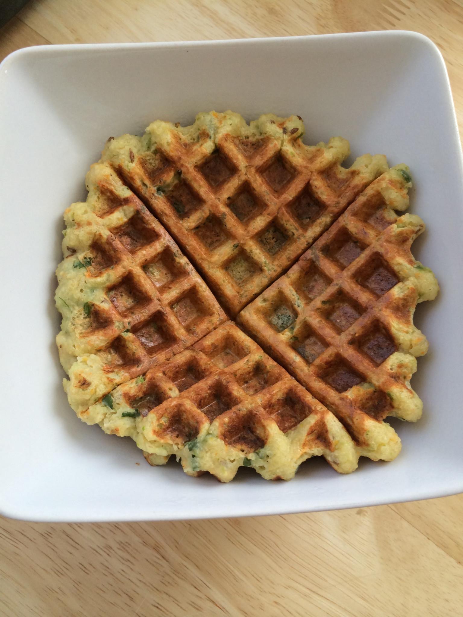 Vegetarian Waffles Recipe  Ve able Waffle