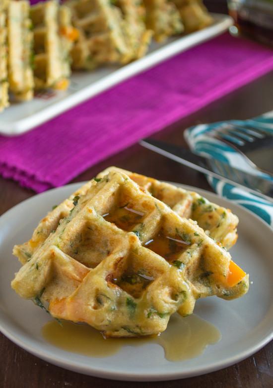 Vegetarian Waffles Recipe  Savory Veggie Waffles