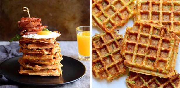 Vegetarian Waffles Recipe  Cheesy ve able waffles