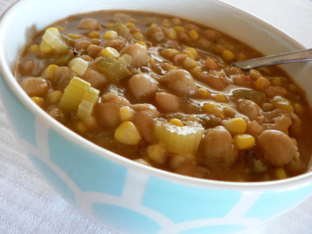 Vegetarian White Bean Chili Recipe  Low Fat Ve arian White Bean Chili Recipe