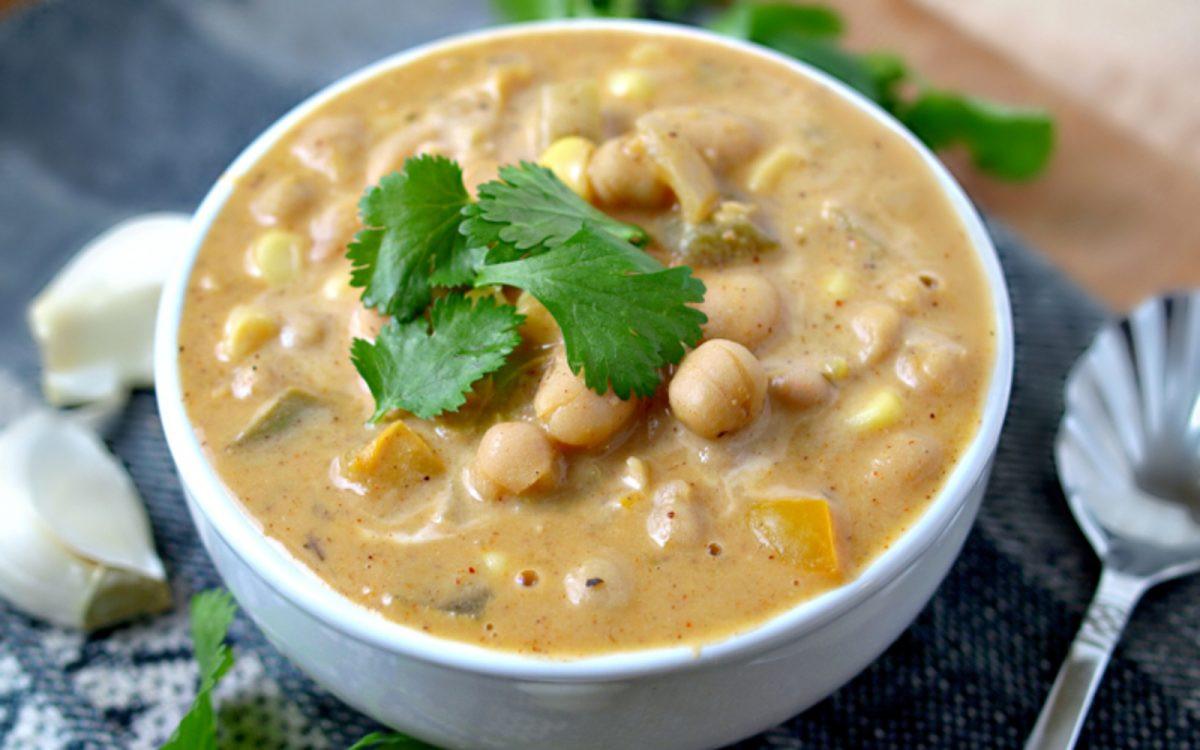 Vegetarian White Bean Chili Recipe  Oil Free White Bean Chili [Vegan Gluten Free]