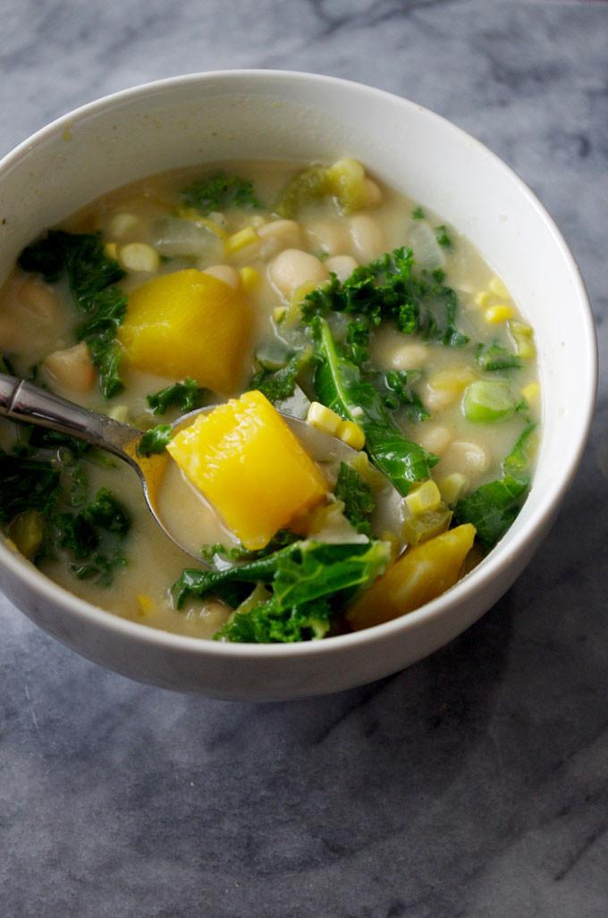 Vegetarian White Bean Chili Recipe  Easy Stovetop Ve arian White Bean Chili Recipe