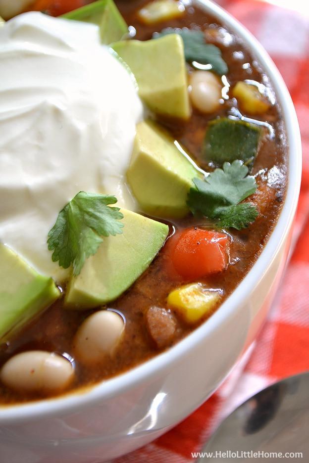 Vegetarian White Bean Chili Recipe  Three Pepper Ve arian White Bean Chili