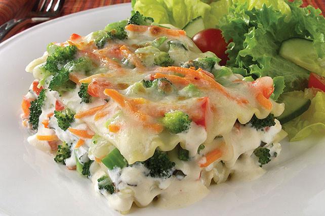 Vegetarian White Lasagna  ve able lasagna white sauce spinach