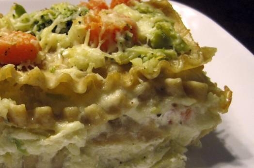 Vegetarian White Lasagna  White Ve able Lasagna