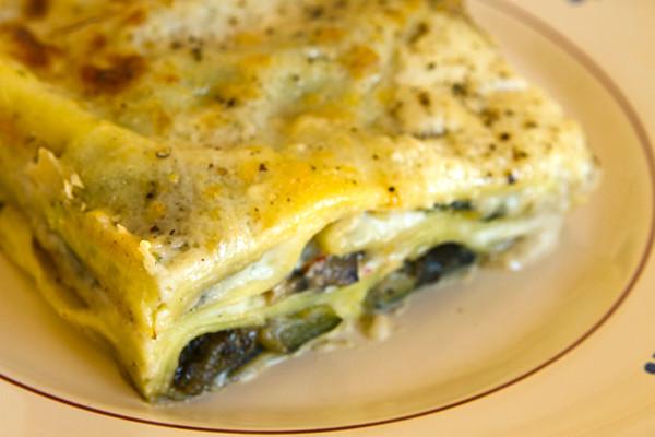 Vegetarian White Lasagna  white lasagna ve arian