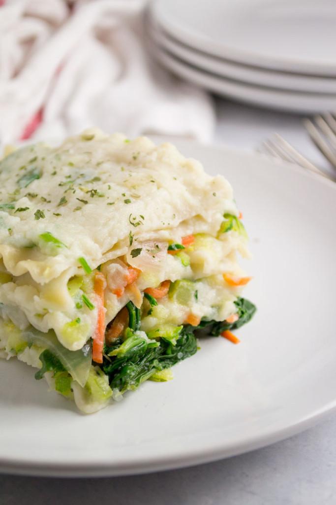 Vegetarian White Lasagna  Vegan White Lasagna GF NF • OCD Kitchen