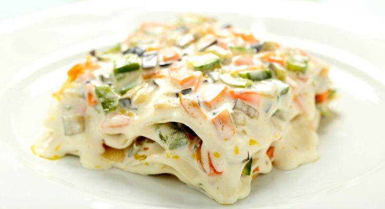 Vegetarian White Lasagna  Get Crocked – Slow Cooker Veggie Lasagna with Alfredo