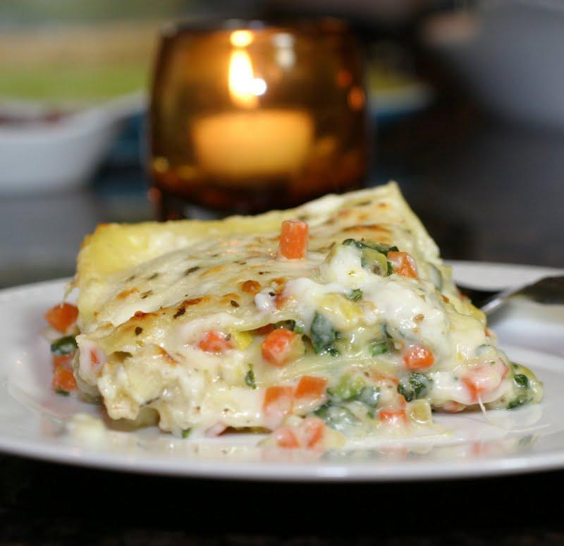 Vegetarian White Lasagna  The Italian Dish Posts Roasted Ve able Lasagna