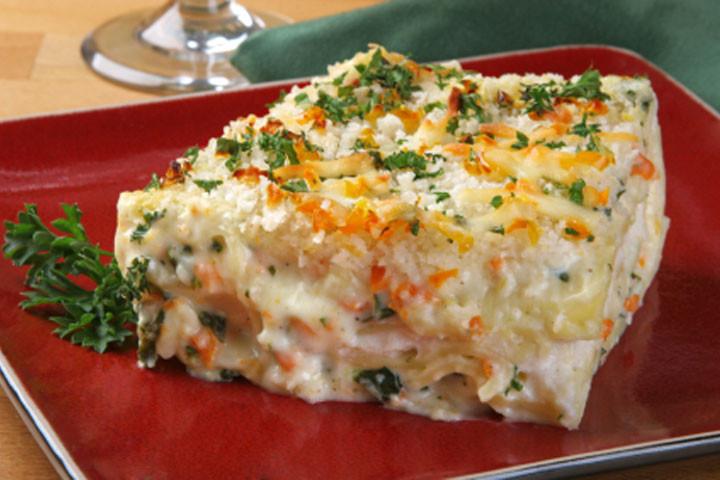 Vegetarian White Lasagna  Ve able Lasagna Recipes CDKitchen