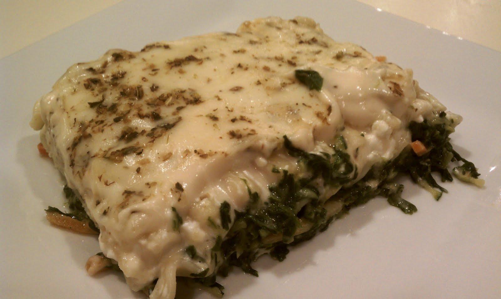 Vegetarian White Lasagna  White Ve able Lasagna Emily Bites