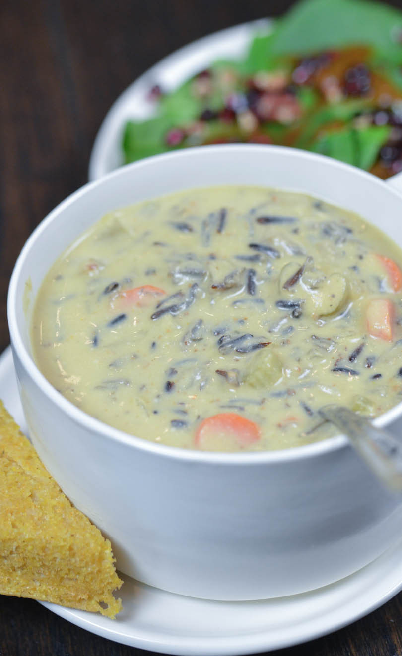 Vegetarian Wild Rice Recipe  Creamy Vegan Wild Rice Soup