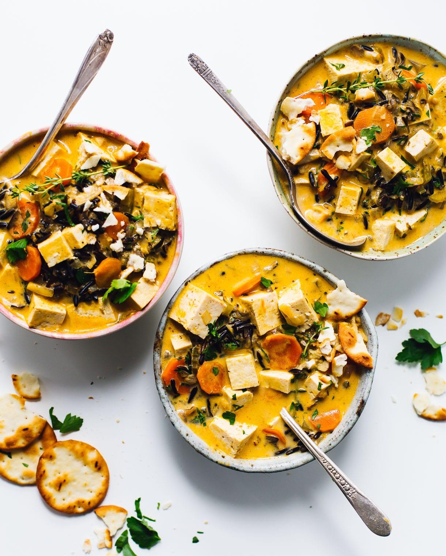 Vegetarian Wild Rice Recipe  wild rice soup vegan