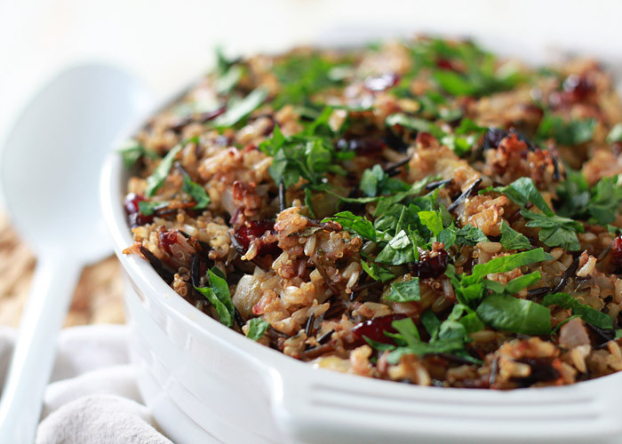 Vegetarian Wild Rice Recipe  Ve arian Thanksgiving Recipes