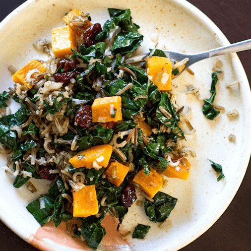 Vegetarian Wild Rice Recipe  Vegan Wild Rice And Butternut Squash Salad With Maple