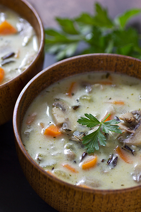 Vegetarian Wild Rice Soup  Ve arian Soup Stew and Chili Recipes Oh My Veggies