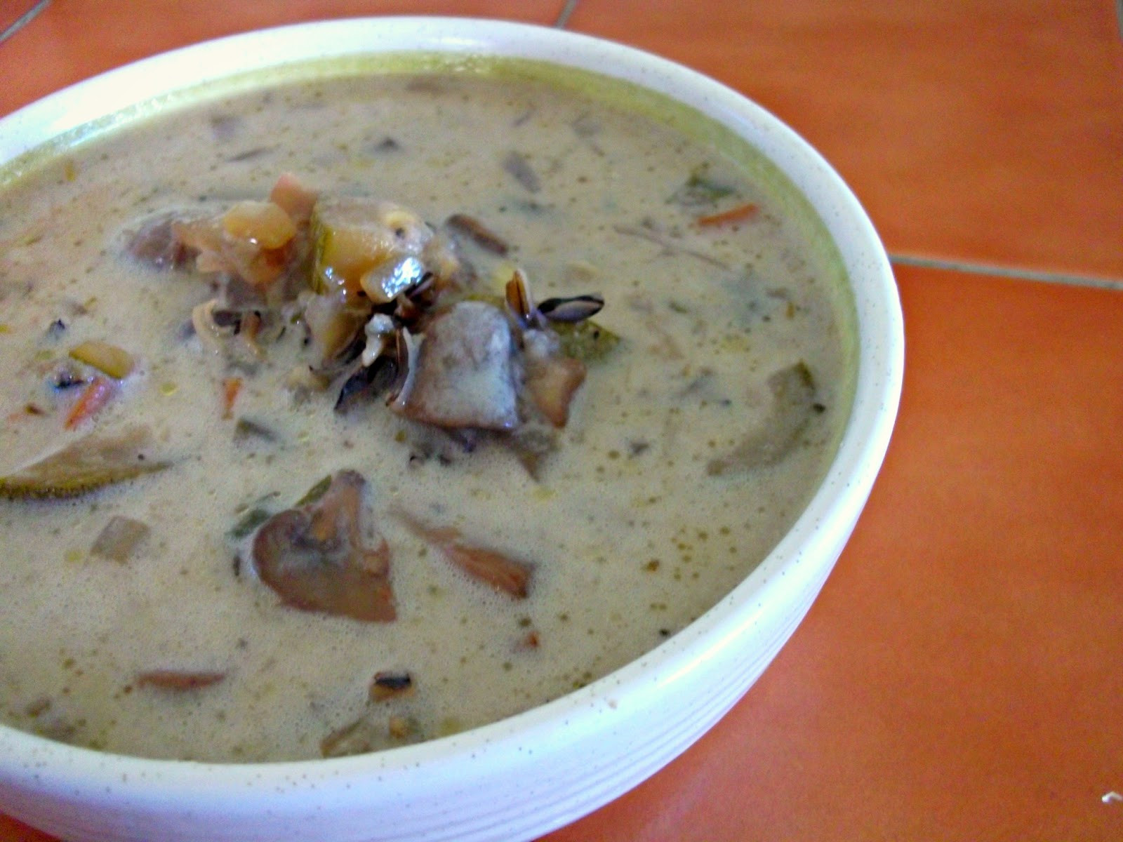 Vegetarian Wild Rice Soup  Julia s Vegan Kitchen Creamy Mushroom Wild Rice Soup