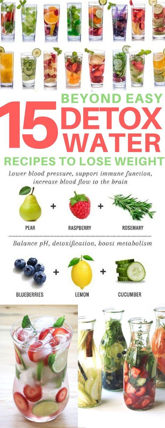 Water Infusion Recipes For Weight Loss  25 bästa idéerna om Detox på Pinterest