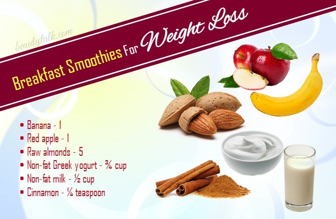Weight Loss Breakfast Smoothies  18 DIY Weight Loss Smoothie Recipes