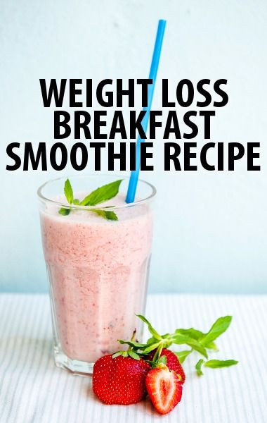 Weight Loss Breakfast Smoothies  Dr Oz Two Week Rapid Weight Loss Diet & Breakfast Smoothie