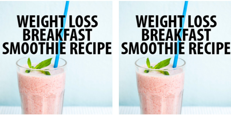 Weight Loss Breakfast Smoothies  Get Daily Recipes