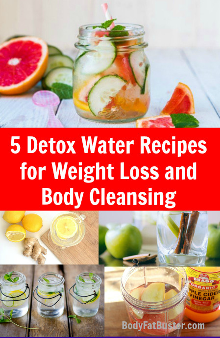 Weight Loss Cleansing Recipes  5 Detox Water Recipes for Weight Loss and Body Cleansing