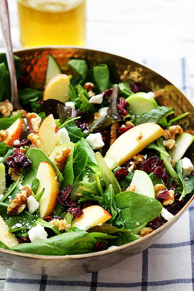 Weight Loss Salads Recipes  Apple & Cranberry Salad – Thanksgiving Ve arian Diet