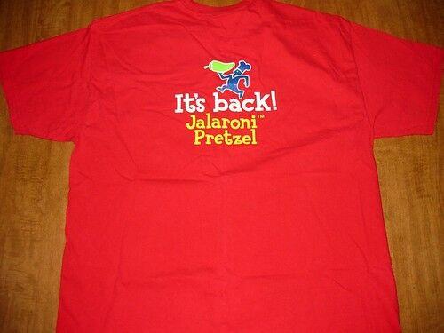 Wetzel'S Pretzels Vegan  WETZEL s PRETZELS T shirt XL Jalaroni Pretzel logo tee