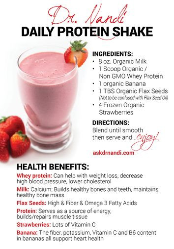 Whey Protein Recipes For Weight Loss  Dr Nandi s Daily Protein Shake Recipe Organic Milk Whey