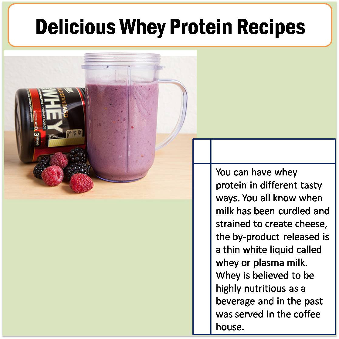 Whey Protein Recipes For Weight Loss  How to reduce fat belly in one week 12 week mass building