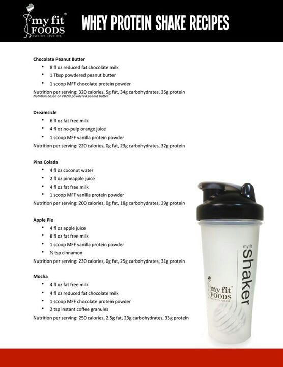 Whey Protein Recipes For Weight Loss  20 best ideas about Whey Protein Shakes on Pinterest