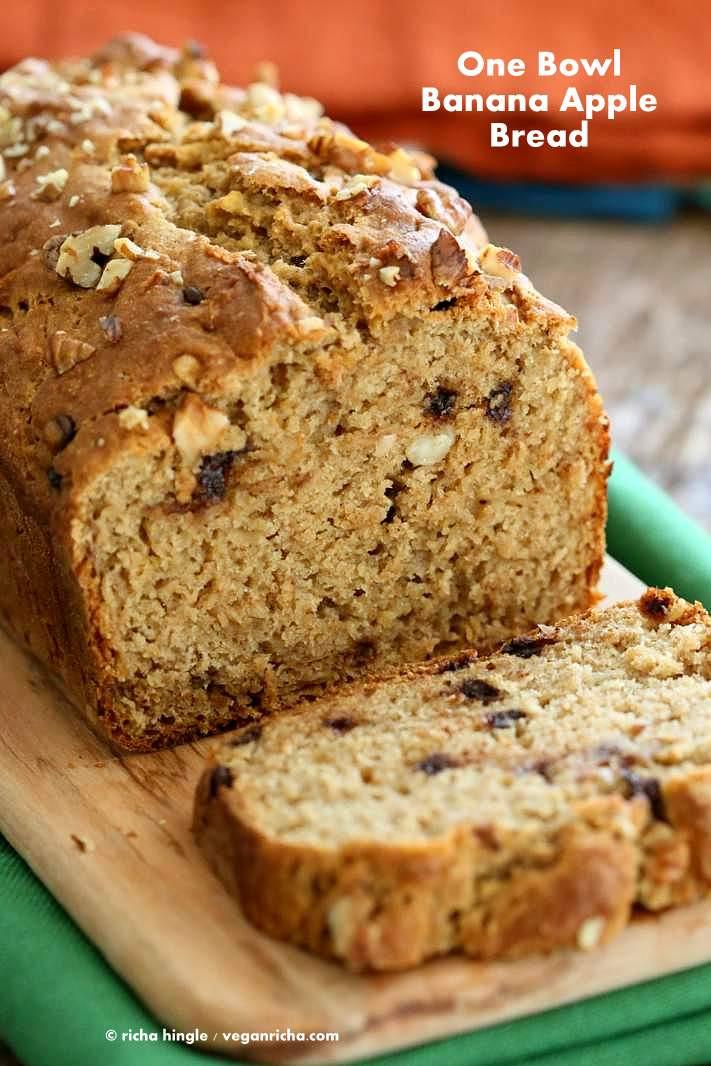 Which Bread Is Vegan  e Bowl Vegan Banana Apple Bread Vegan Richa