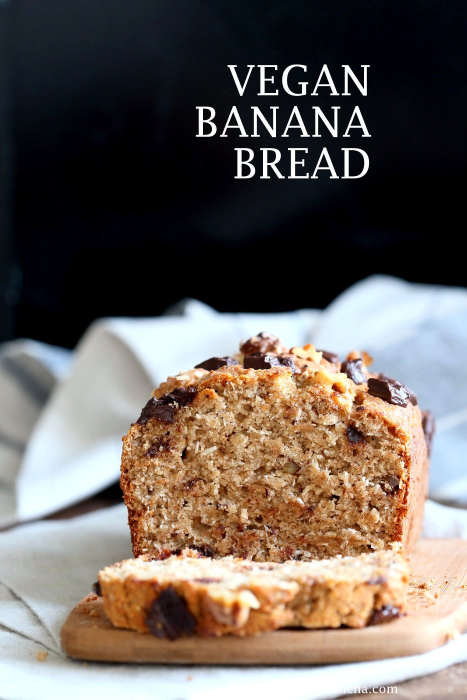 Which Bread Is Vegan  Vegan Banana Bread with Toasted Walnuts and Coconut