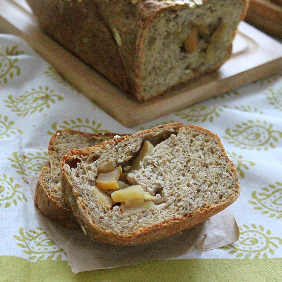 Which Bread Is Vegan  Apple Pie Swirl Multigrain Bread Loaf Vegan recipe
