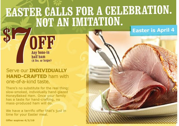 Why Do We Eat Ham At Easter  Allergen Free Please Need a HoneyBaked Ham Coupon