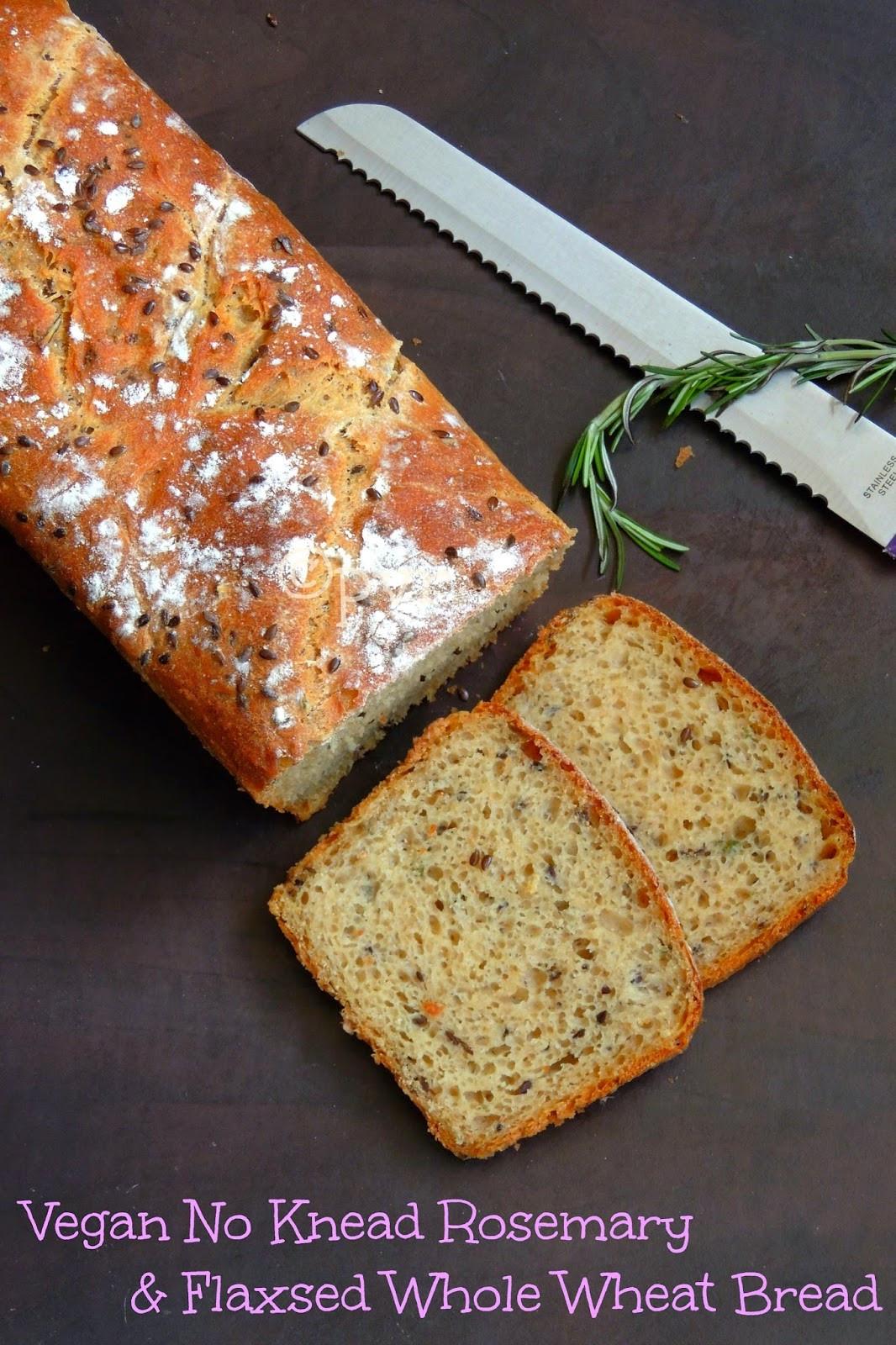 Wonder Bread Vegan  Priya s Versatile Recipes Vegan No Knead Rosemary