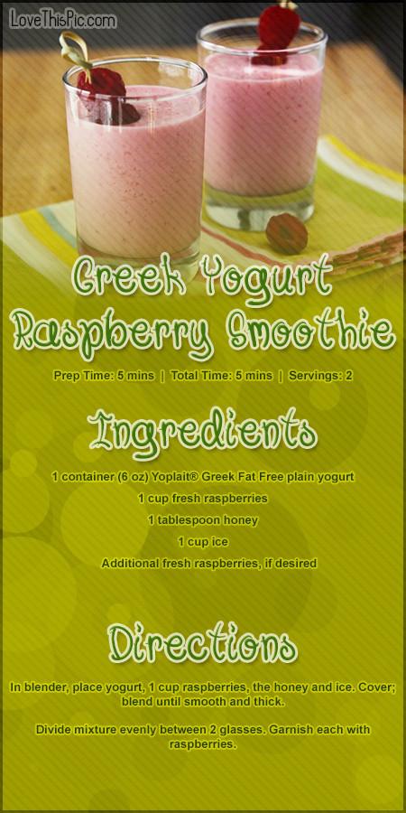Yogurt Smoothie Recipes For Weight Loss  Greek Yogurt Rasberry Smoothie Recipe s