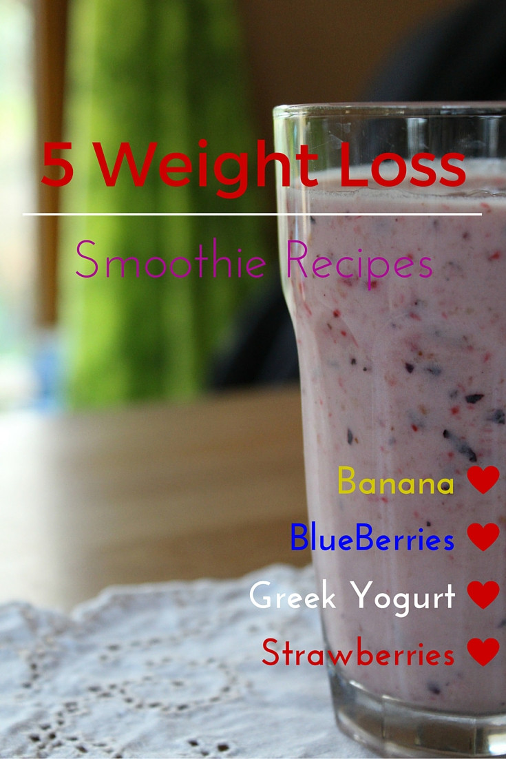 Yogurt Smoothie Recipes For Weight Loss  Healthy Smoothie Recipes Strawberry Blueberry Banana