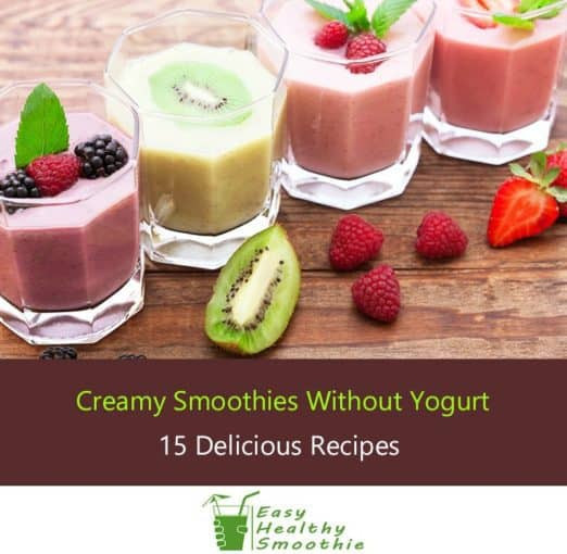 Yogurt Smoothie Recipes For Weight Loss  15 Creamy Smoothie Recipes Without Yogurt No Dairy At All