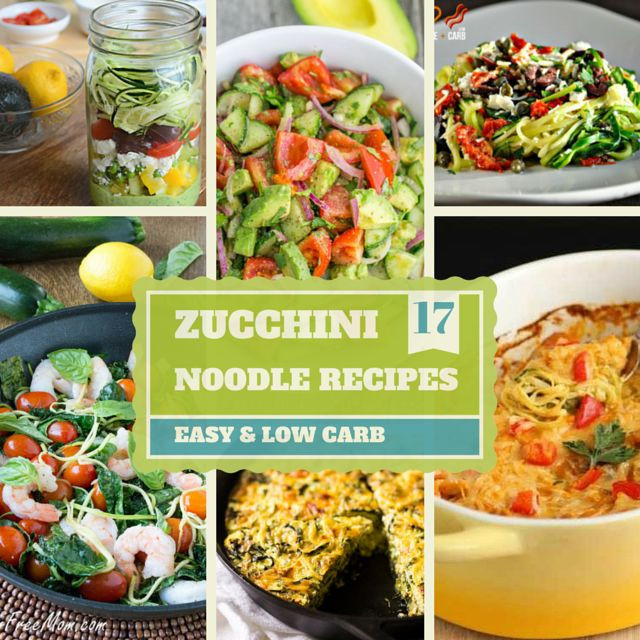 Zucchini Recipes Low Carb  17 Easy Low Carb Zucchini Noodle Recipes