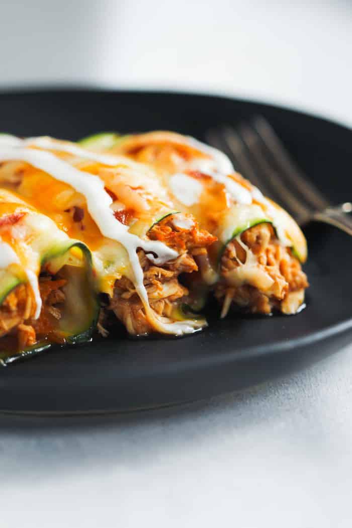 Zucchini Recipes Low Carb  Low Carb Chicken Zucchini Enchilada Primavera Kitchen