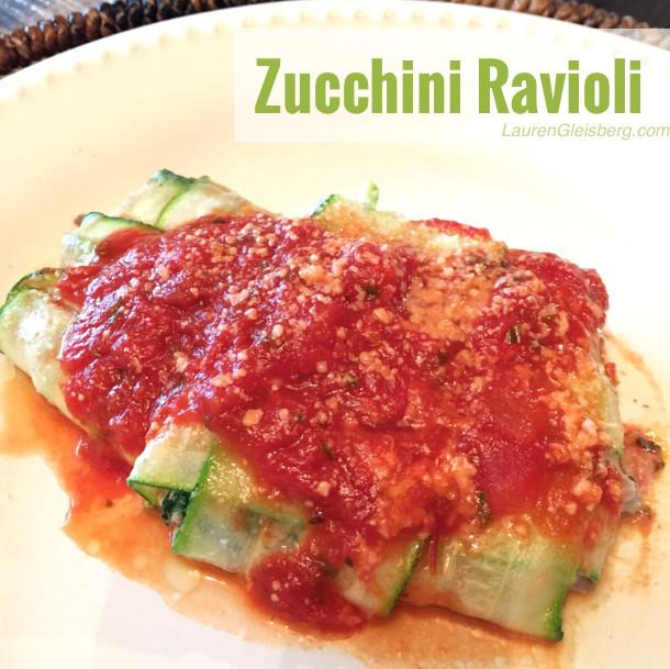 Zucchini Recipes Low Carb  HEALTHY LOW CARB ZUCCHINI RAVIOLI RECIPE Lauren Gleisberg