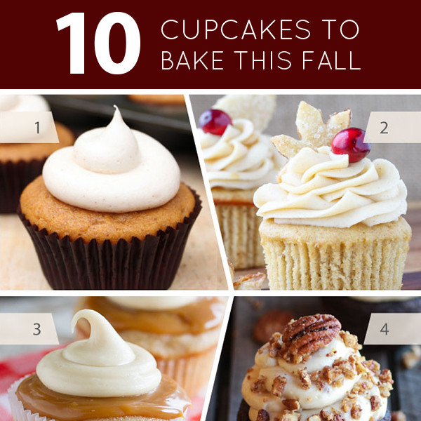 25 Fabulous Autumn Fall Cupcakes  10 Cupcakes to Bake this Fall