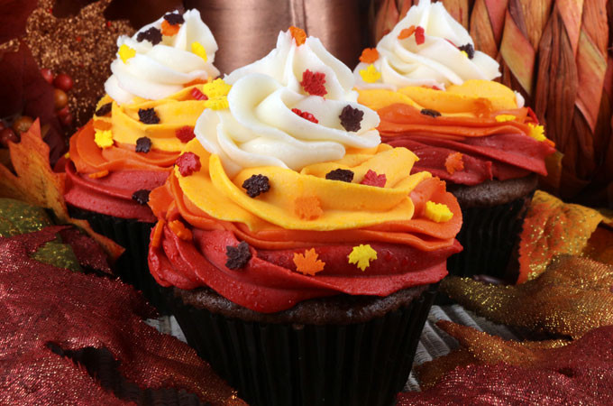 25 Fabulous Autumn Fall Cupcakes  Harvest Swirl Cupcakes Two Sisters