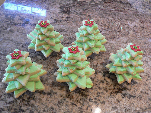 3D Christmas Tree Cookies  Nifty 3D Christmas Tree Cookies great to eat or give