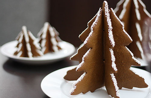 3D Christmas Tree Cookies  not martha — 3D Christmas Tree Gingerbread Cookies – the